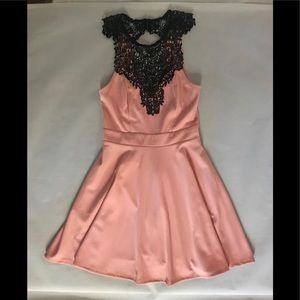 Material Girl - crotchet embellished dress small